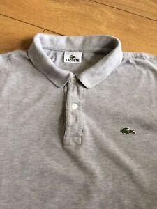Lacoste Mens Polo Shirt .. Size 7 UK 2XL .. XXL .. Grey