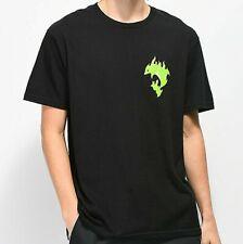 NWT Pink Dolphin Aqua Flames T-Shirt Black Size Large