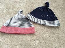 2x Baby Boys M&S Hats - Age 0-6 Mths