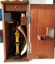Altes Mikroskop Seibert Wetzlar im Kasten 40x19x17cm + Zubehör + Schlüssel