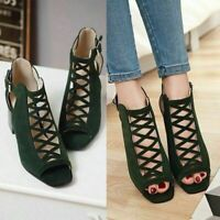 Women Roman Ankle Strap Sandals Platform Open Toe High Heel Nightclub Summer
