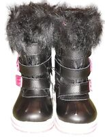 Girls Toddler Rugged Outback Weather Snow Boot with lining Sz 5 Pink/Black
