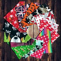 Dog Present Gift Neckerchief Bandana Slide Slip on Collar Scarf Neck Tie Various