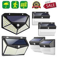 118/208LED Solar Powered Motion Sensor Wall Light Outdoor Waterproof Garden Lamp