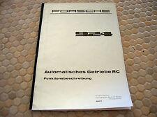 PORSCHE 924 AUTOMATISCHES GETRIEBE RC FUNKTIONSBESCHREIBUNG MANUAL BROCHURE GER