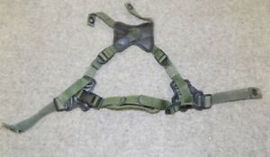 USMC Gentex Retention Helmet Chin Strap X Harness LWH Green Medium/Large