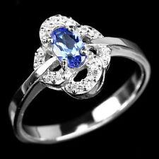 Tanzanite Band Oval Not Enhanced Fine Gemstone Rings