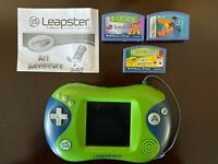 LeapFrog Leapster 2 Learning Game System Handheld Console w/ 3 Games Tested