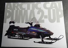 1994 ARCTIC CAT SNOWMOBILE PUMA 2-UP SALES BROCHURE SINGLE PAGE TWO SIDED (806)