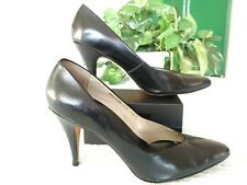 """Dolcis Comfort Collection 10M pointy-toed 3.75"""" heels black Brazilian leather"""