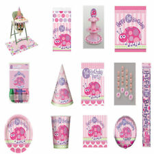 Decoración y menaje animales color principal rosa para mesas de fiesta