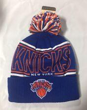 NY New York Knicks Knit Beanie Toque Winter Hat Adidas Cuffed Pom NBA