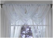 Plain Tasselled Voile Swags All Colours-Net Curtains Voile Swag Valance Pelmet
