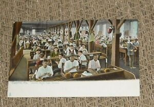 VINTAGE TAMPA FLORIDA INTERIOR CIGAR FACTORY REAL PHOTO COLOR POST CARD - UNUSED