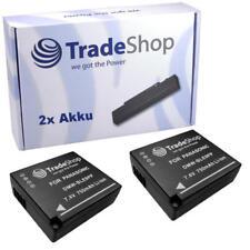 Batería 2x para Panasonic Lumix dmc-gf3c dmc-gf3x dmc-gf5 dmc-gf5x