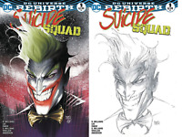SUICIDE SQUAD #1 MICHAEL TURNER ASPEN VARIANT SET COLOR & B&W SKETCH 2017 DC NM