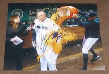 KYLE SEAGER SIGNED GATORADE SHOWER 8x10 inch PHOTO SEATTLE MARINERS AUTO