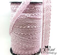 LOT GALON DENTELLE FINE ROSE SCRAPBOOKING COUTURE CARTE SCRAP 25mm NOUVEAUTÉ