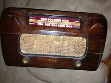 Vintage Working Philco Tube Radio 46-421original parts all work including light