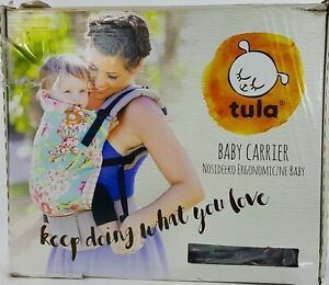 Tula Ergonomic Baby Carrier Melody Bird Cage Print Turquoise Boy Girl