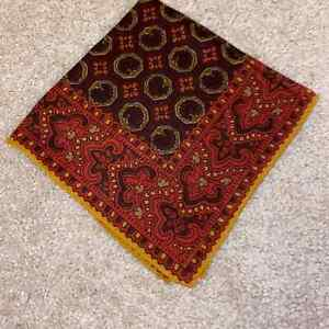 Seaward and Stearn wool and silk pocket square