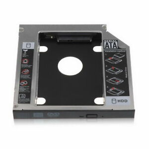 Optical Bay 2nd SATA HDD Hard Drive Caddy CD-ROM For Laptop NoteBook PC