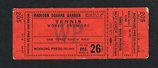 1947 Jack Krammer vs Bobby Riggs full tennis ticket Madison Square Garden  MSG