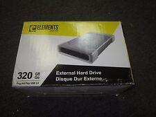 New Western Digital Elements 320 GB External 7200 RPM (WDE1U3200N) Hard Drive
