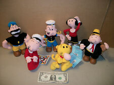 Popeye Olive Oyl & Friends Complete Set of 6 Stuffins Plush Figures / Dolls Cvs