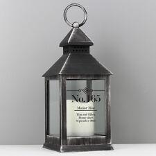 Personalised Elegant Diamond Rustic Black Lantern  | Cellini Candles #