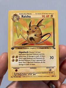 1st Edition Fossil Raichu 29/62 Pokemon Rare (Near Mint)