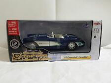 NHL VANCOUVER CANUCKS 1:24 SCALE DIECAST 1957 CHEVROLET CORVETTE CONVERTIBLE