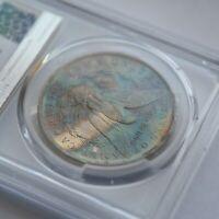 1883 O PCGS MS63 Silver Morgan Dollar Toned Rainbow Monster Color Blast White