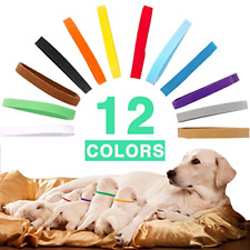 Puppy Whelping Collars Id Double-Sided Soft Adjustable Bands Newborn Pet Dog Cat
