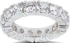 3.61 carat Diamond Eternity Ring 18k Gold Wedding Band Size 5, 18 x 0.20 ct, F