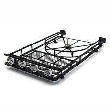 Roof Luggage Rack 4 LED SPOT Light Bar for RC AXIAL SCX10 Rock Crawler 518BK