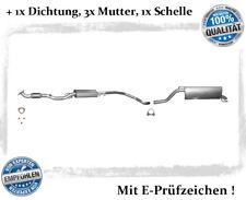 Auspuffanlage Opel Corsa D 1.4 16V Auspuff Flexrohr Endtopf Mitteltopf Dichtung