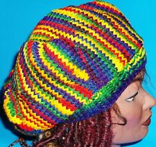 NEW RAINBOW RASTA DREAD DREADLOCKS TAMS HAT BERET CAP REGGAE JAMAICA M/L FIT