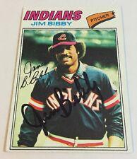 1977 Topps Jim Bibby Signed Autograph #501 Baseball Card