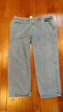 Carhartt Mens Jeans 46 x 30 Flame B460 Relaxed Fit Straight Leg Blue