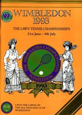 Wimbledon 1993 The Lawn Tennis Championships 21st June - 4th July