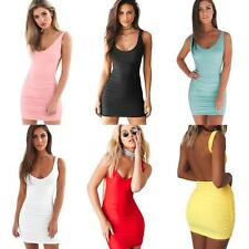 Summer Women's Backless Bodycon Evening Party Cocktail Mini Slim Club Dress