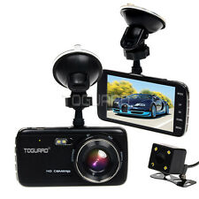 "4"" IPS HD 1080p Car Camera Front and Rear Dash Cam Recorder Parking Monitoring"