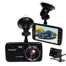 "4"" IPS Car Camera HD 1080p  G-sensor Front and Rear Dash Cam Parking Monitor"