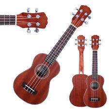 """New 21"""" Glarry Sapele Wood Soprano 4 String Ukulele Musical Hawaiian Guitar"""