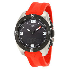 Tissot T-Touch Expert Solar Black Dial Red Silicon Band Mens Quartz