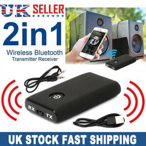 2in1 Bluetooth 5.0 Transmitter Adapter Audio Receiver TV Speaker Headphone