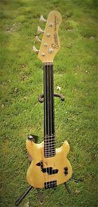 Bass 3/4 semi Fretless Encore ebony natural - light strings piccolo - hard case