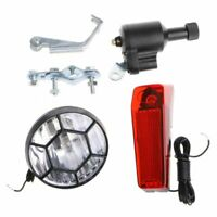 Motorized Bike Bicycle Friction Dynamo Generator Head Tail Light With Acesso F2E