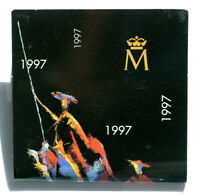 ESPAÑA/SPAIN. Estuche 2000 pesetas 1997 PLATA. 450 ANIV. CERVANTES. FNMT. SC/UNC